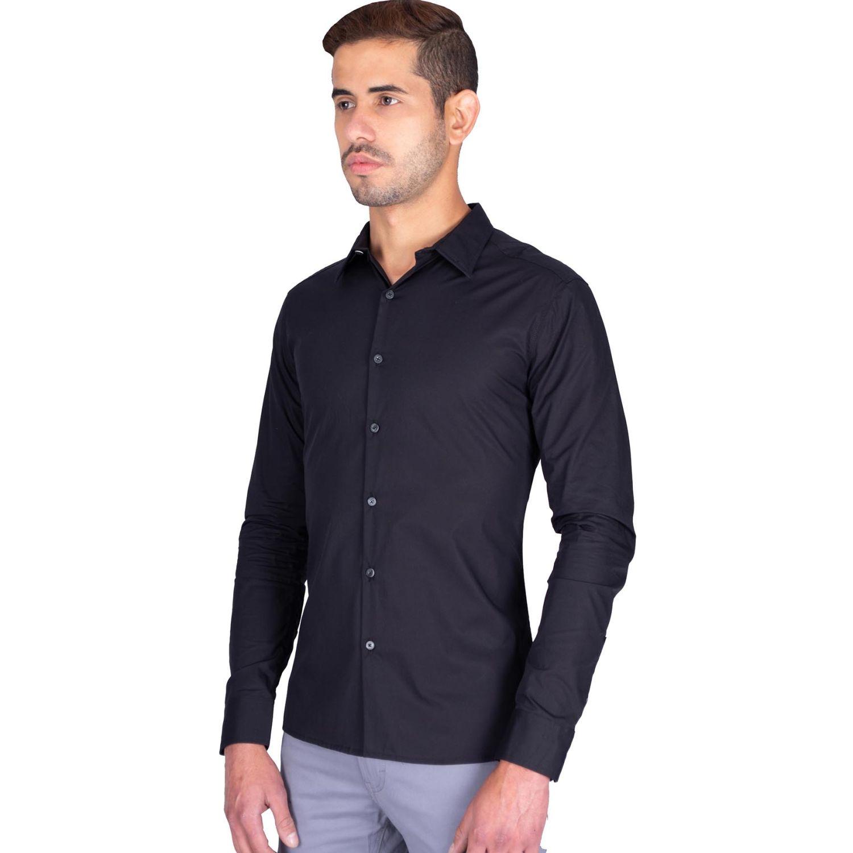 The Cult Camisa Manga Larga, Perfect Fit Negro Camisas de botones