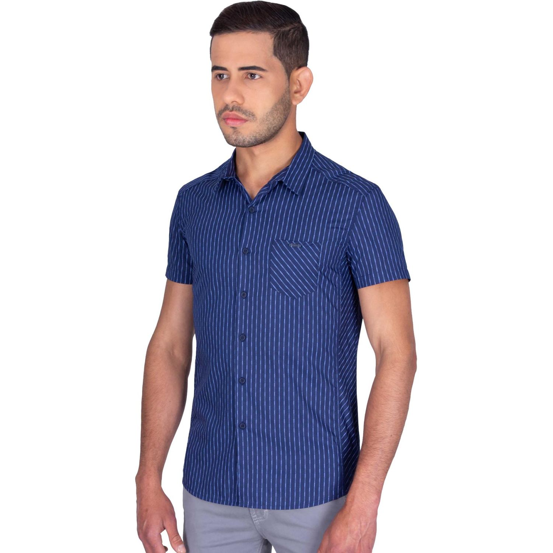 The Cult Camisa Manga Corta, Perfet Fit Azul / celeste Camisas de botones