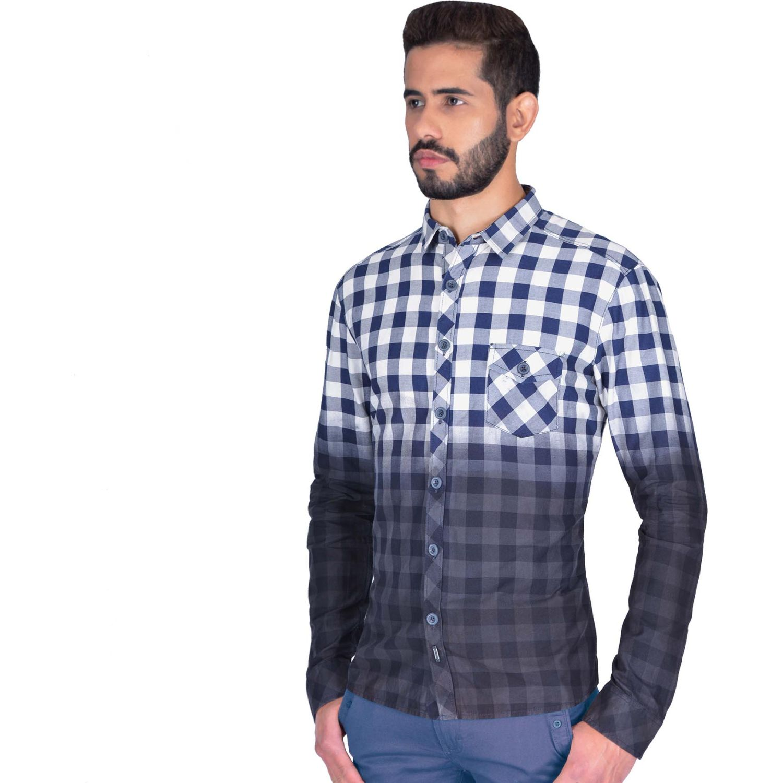 The Cult Camisa Manga Larga, Perfect Fit Blanco / azul Camisas de botones