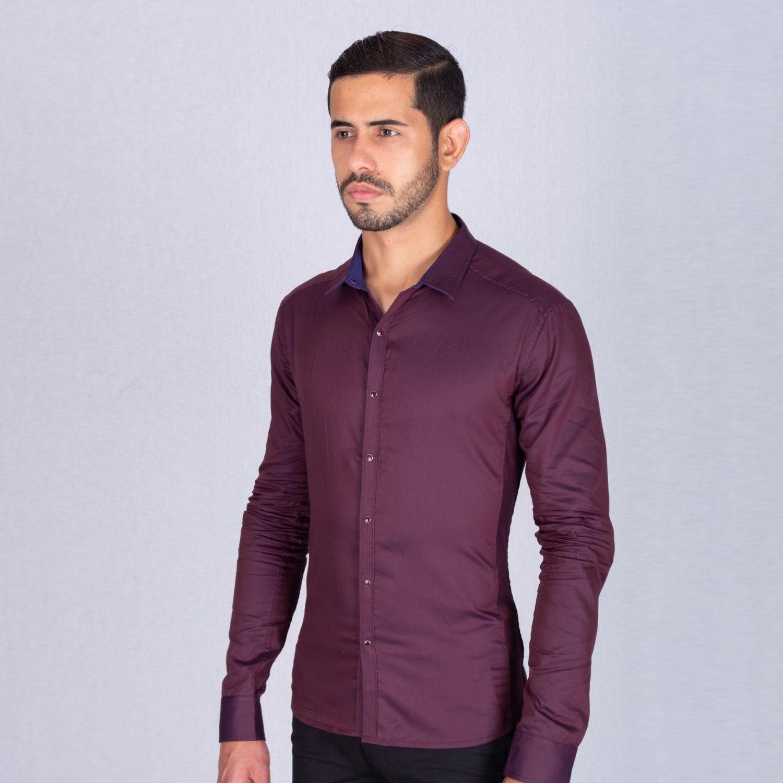 The Cult Camisa Manga Larga, Perfect Fit Vino Camisas de botones