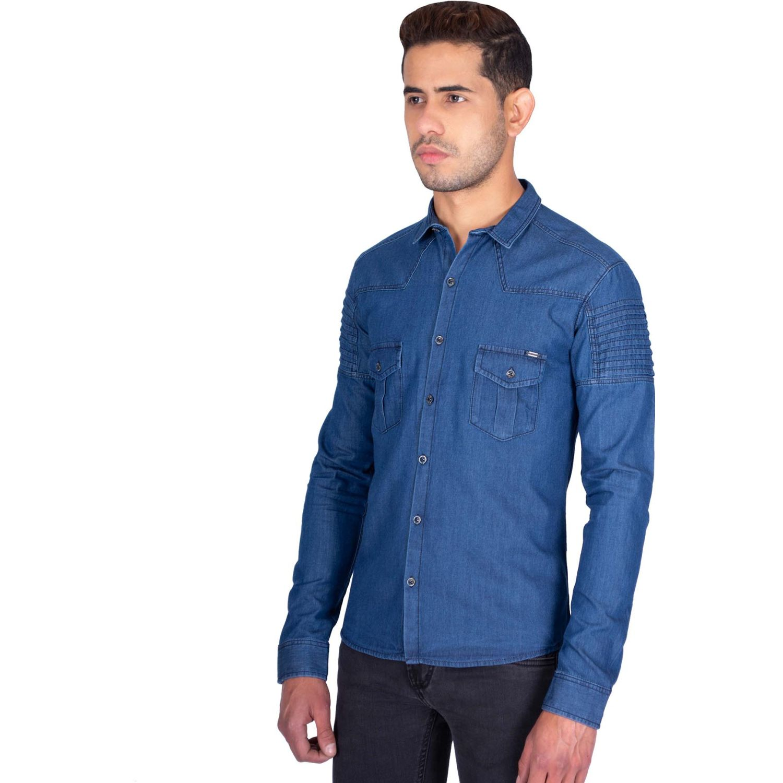 The Cult Camisa Manga Larga, Perfect Fit Azul Camisas de botones