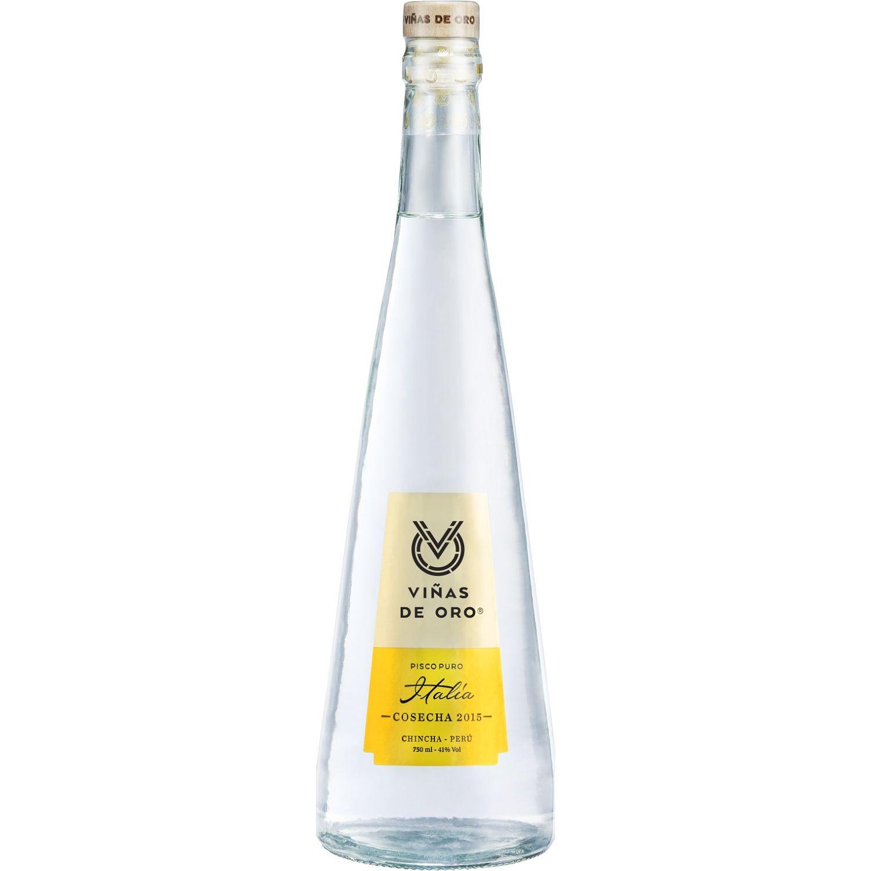 VIÑAS DE ORO Pisco Puro Italia 750ml Transparente Brandy y aguardientes