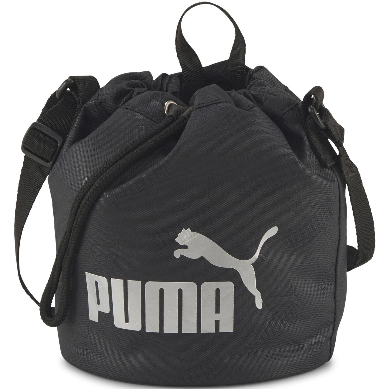 Puma Wmn Core Up Small Bucket Bag Negro Bolsas con cordón para fans de deportes