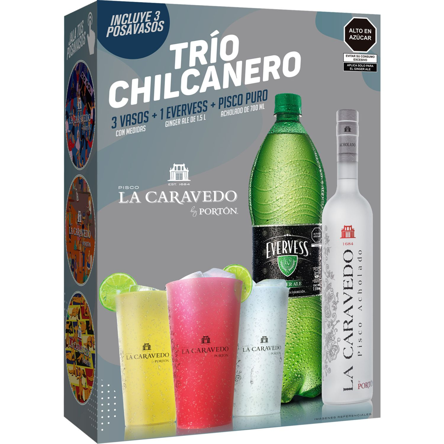 LA CARAVEDO Pack Chilcanero Acholado 700ml Sin color Brandy y aguardientes