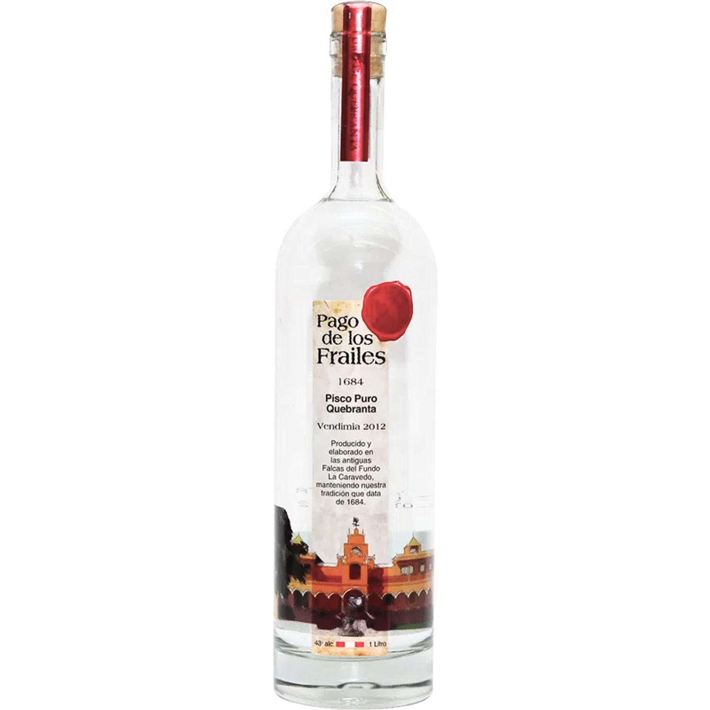 PAGO DE LOS FRAILES Pisco Puro Quebranta 1l Sin color Brandy y aguardientes