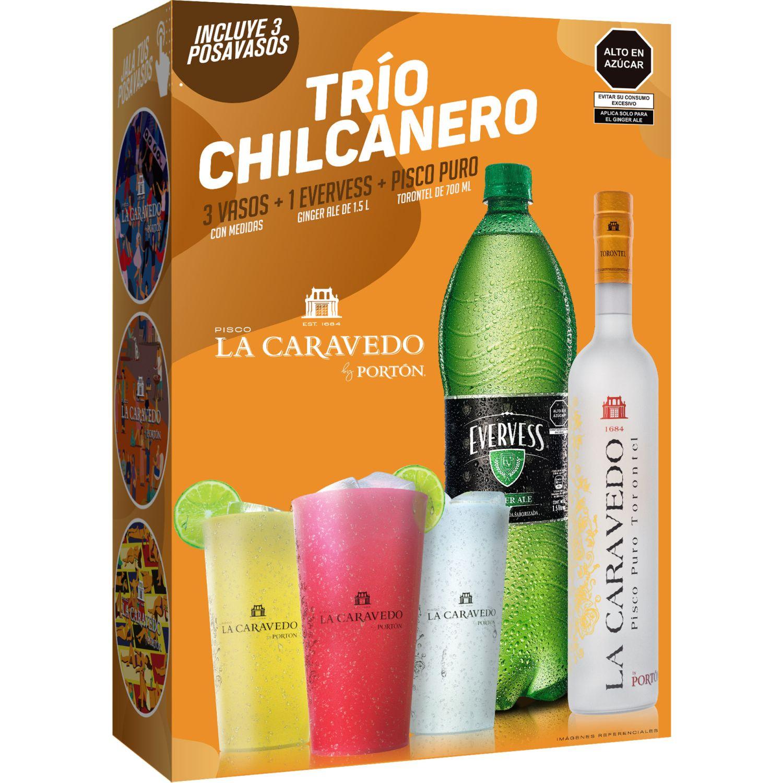 LA CARAVEDO Pack Chilcanero Torontel 700ml Sin color Brandy y aguardientes