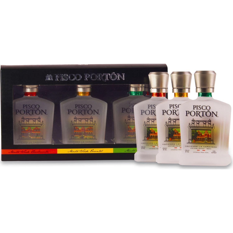 PORTÓN Six Pack Mv Queb-Tor- Ital 50ml Sin color Brandy y aguardientes