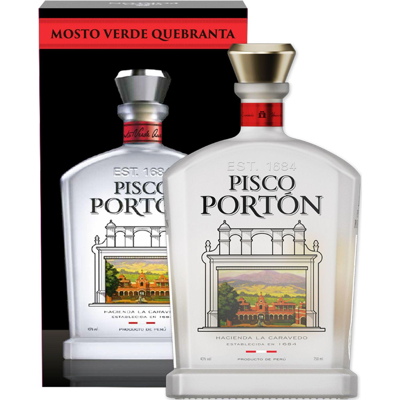 PORTÓN Pmv Quebranta 750ml C/Estuche (Peru) Sin color Brandy y aguardientes
