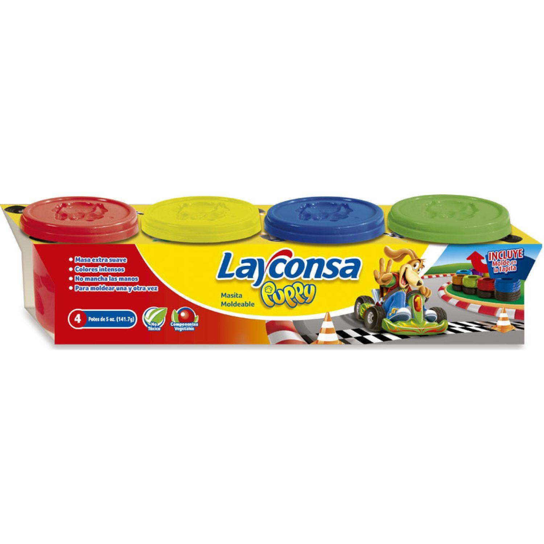 LAYCONSA Masa Para Moldear Layconsa 4 X 5oz MULTICOLOR Arcilla y plastilina