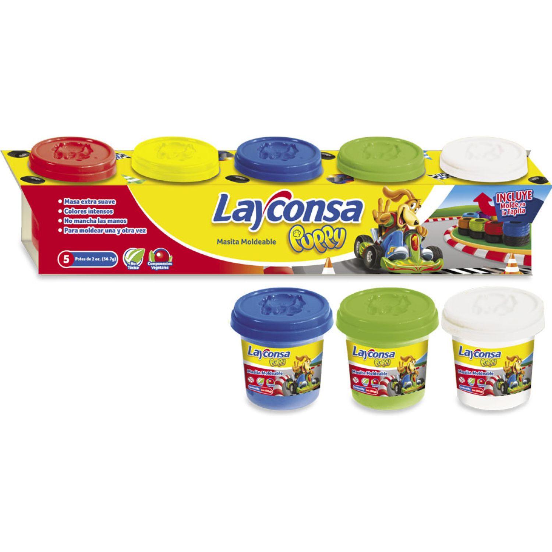 LAYCONSA Masa Para Moldear Layconsa 5 X 2oz MULTICOLOR Arcilla y plastilina