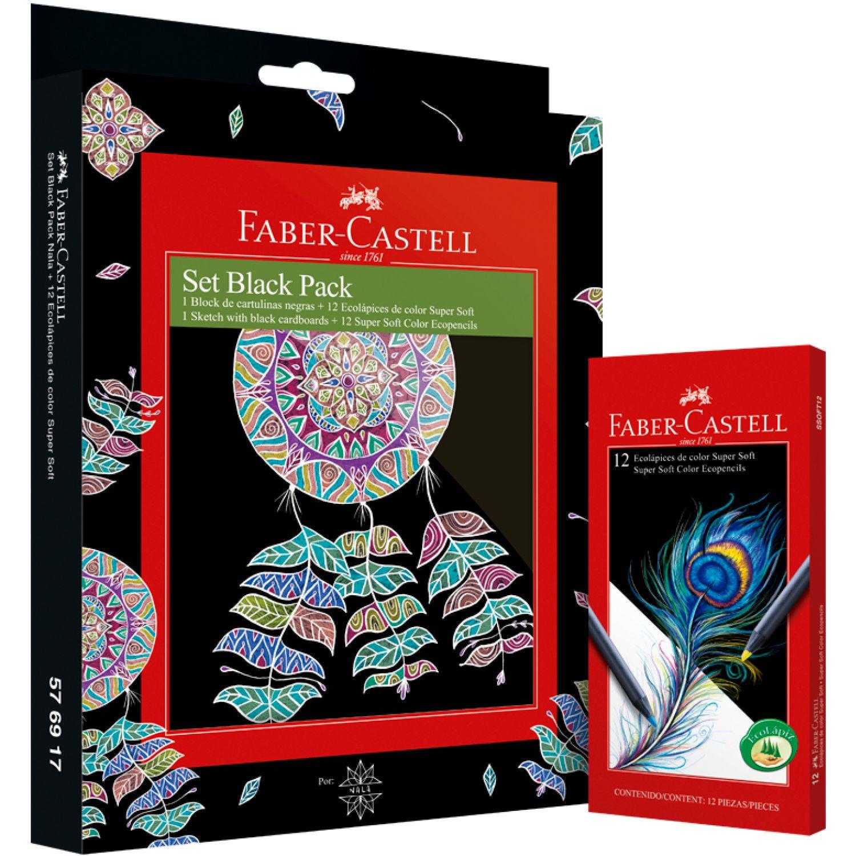 FABER CASTELL Set Black Packnala+ecolapic Super Soft Varios Habilidades básicas