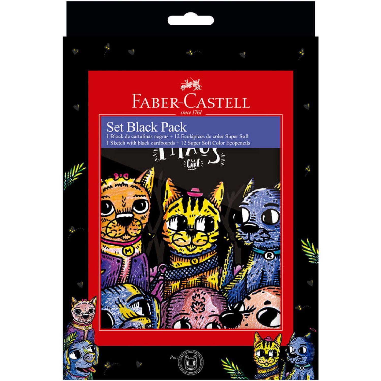 FABER CASTELL Set Black Packcake+ecolapic Super Soft Varios Habilidades básicas