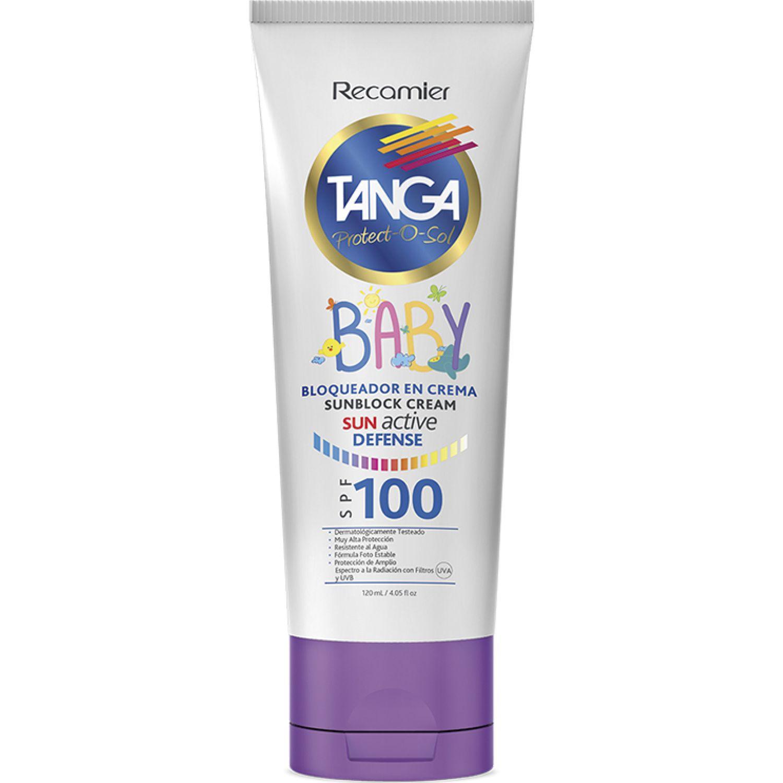 TANGA Crema Bloqueadora Baby Spf 100 Tanga Blanco Protección solares para niños