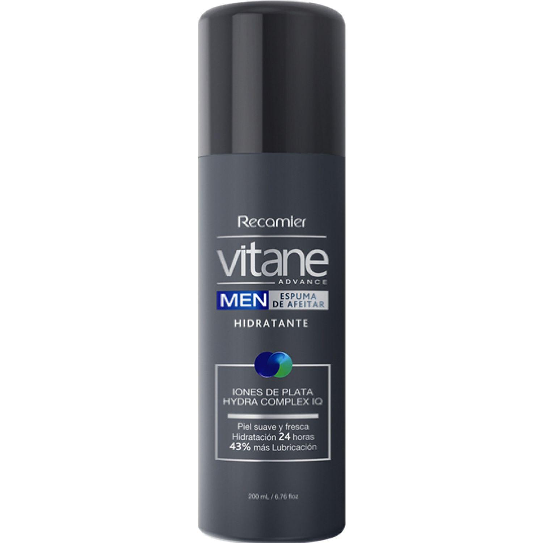VITANE Espuma De Afeitar Hidratante Vitane Gris Cremas para afeitar