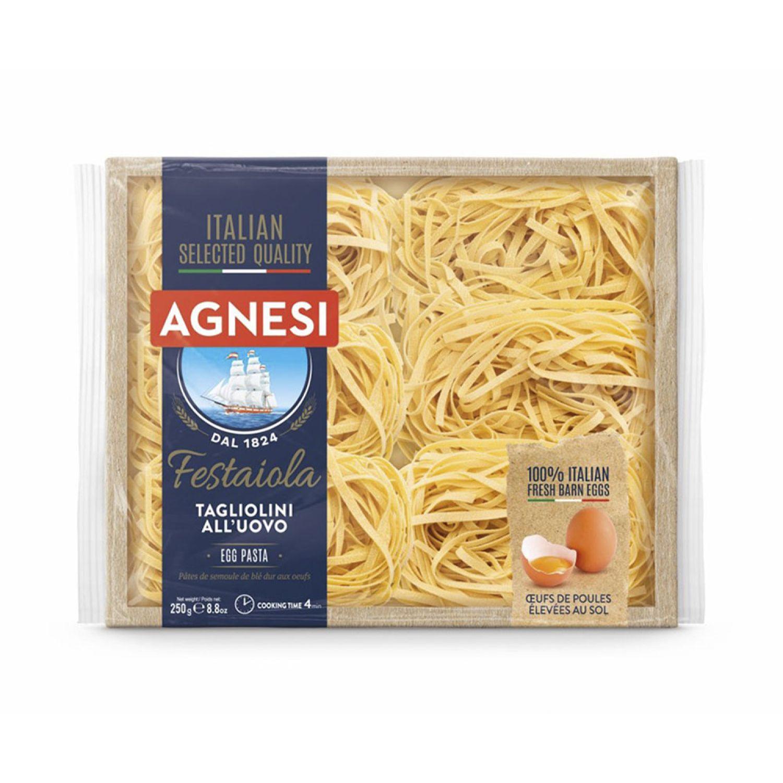 AGNESI Tagliolini 250gr Sin color Fideos de huevo