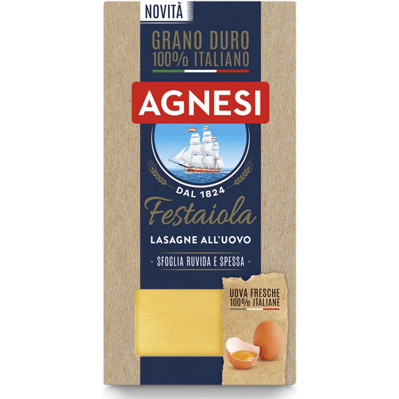 AGNESI Lasagne Gialle 500gr Sin color Fideos de huevo