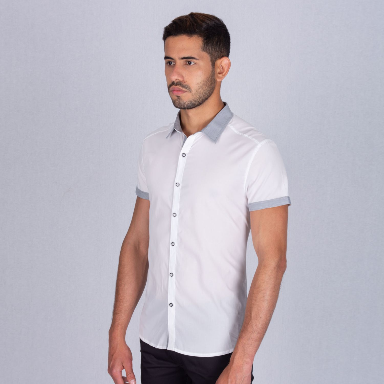 The Cult Camisa Manga Corta, Perfect Fit Blanco Camisas de botones