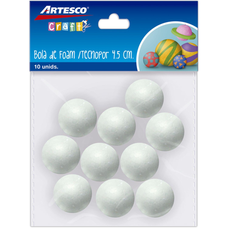 Artesco Bola De Tecnopor 4.5 Cm X 10 Und Varios Habilidades básicas