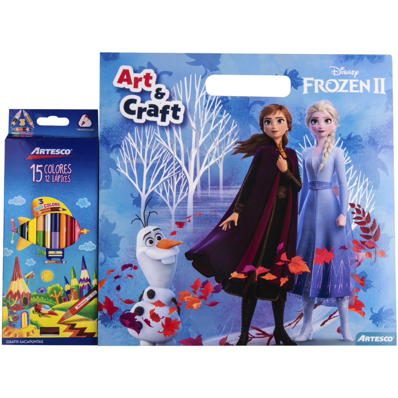Artesco Libro P/ Col Frozen + Col X12 Und Varios Libros para colorear