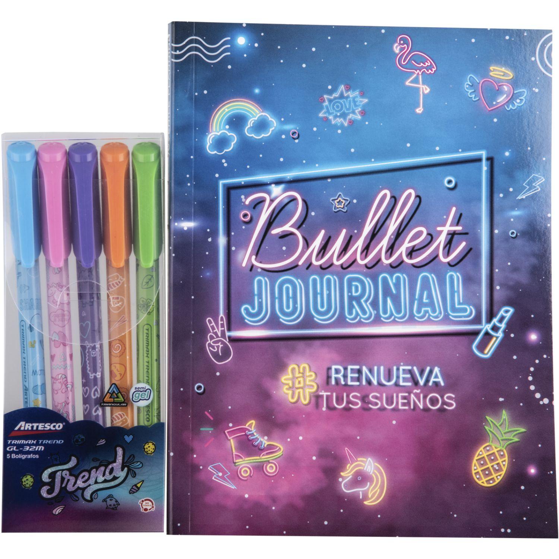 Artesco Pack2020 Lettering Sbook +Plum Glitter Varios Cuadernos sujetos