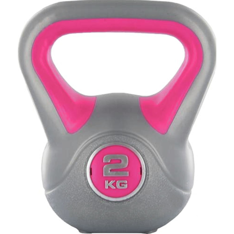 LIVE UP Pesas De Campana Ls2047-2kg Gris / rosado Pesas rusas