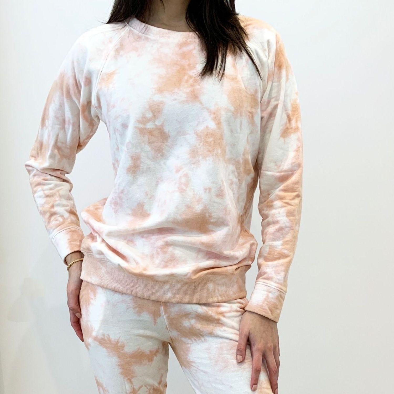 MAJA Conjunto Tie Dye Mariel Coral Coral Buzos deportivos