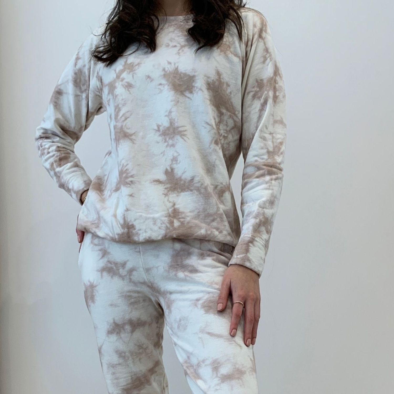 MAJA Conjunto Tie Dye Mariel Beige Beige Buzos deportivos