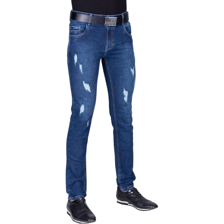 The Cult Pantalon Pitillo Denim Confort Azul Oscuro Casual Platanitos Com