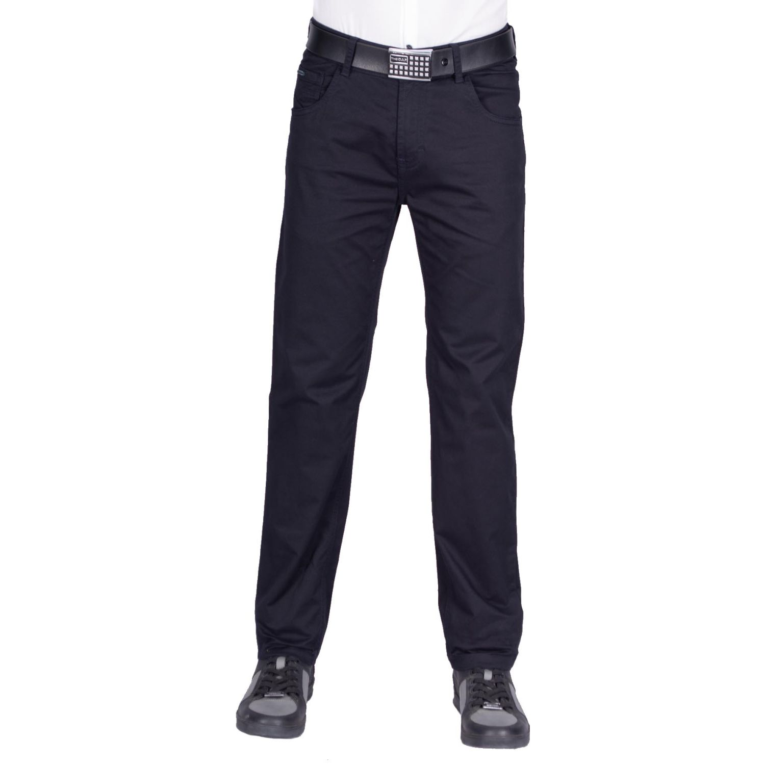 The Cult Pantalón Entubado, Drill Confort Navy Casual