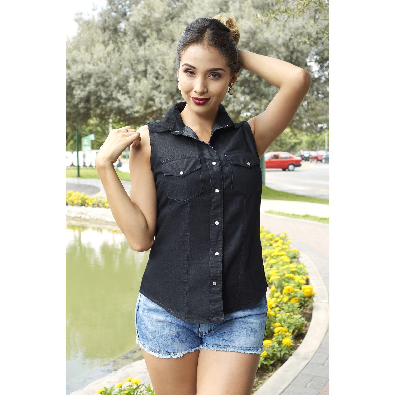 TANSY Blusa Deyci Negro Blusas y camisas con botones