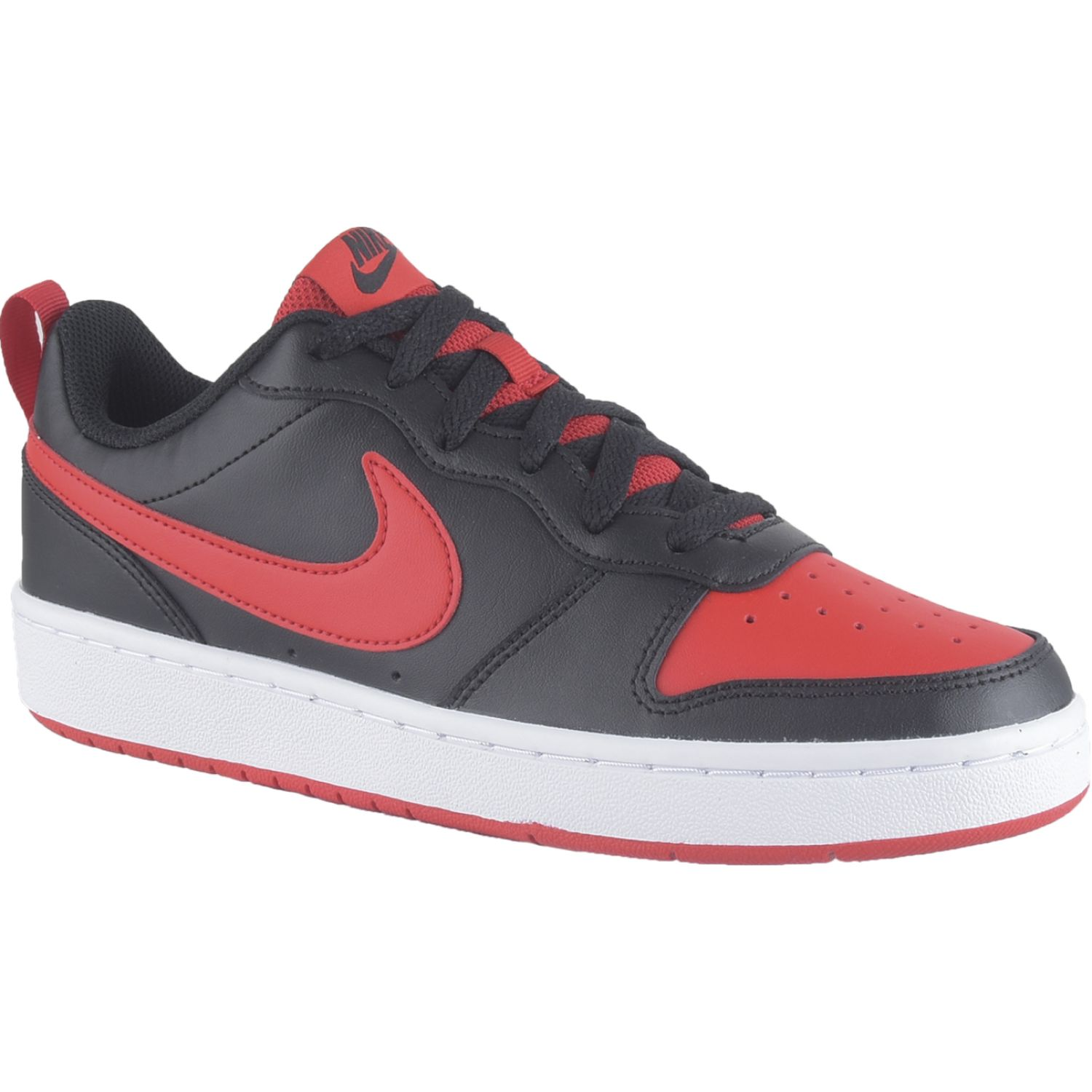 Nike Court Borough Low 2 Bg Negro / rojo Para caminar