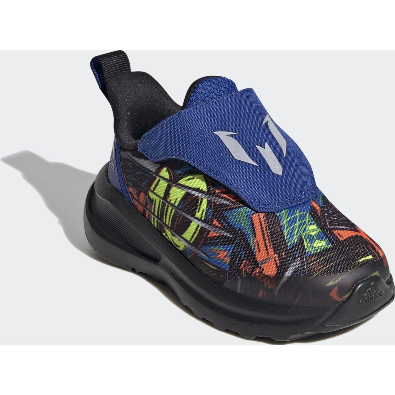 Adidas Fortarun Messi Ac I Negro / azul Niños