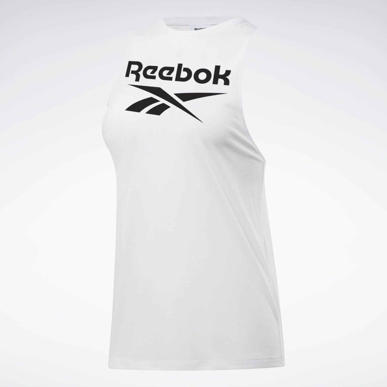 Reebok Wor Sup Bl Tank Blanco / negro Camiseta sin mangas