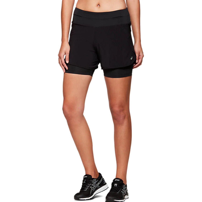 Asics W 2in1 Short Perf Blk Perf Blk Negro Shorts deportivos