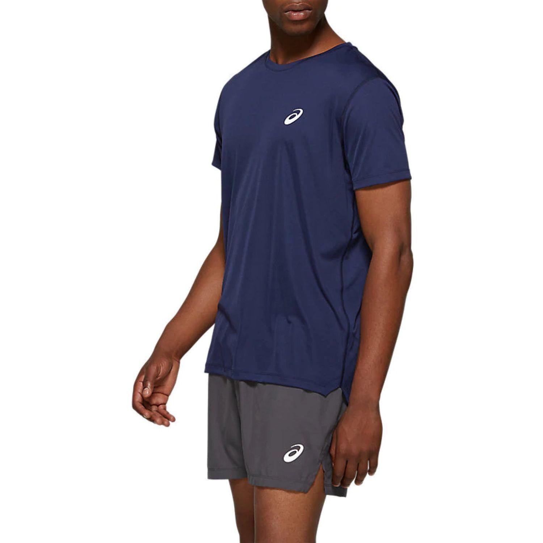 Asics M Silver Ss Top Peacoat Azul Camisetas y polos deportivos