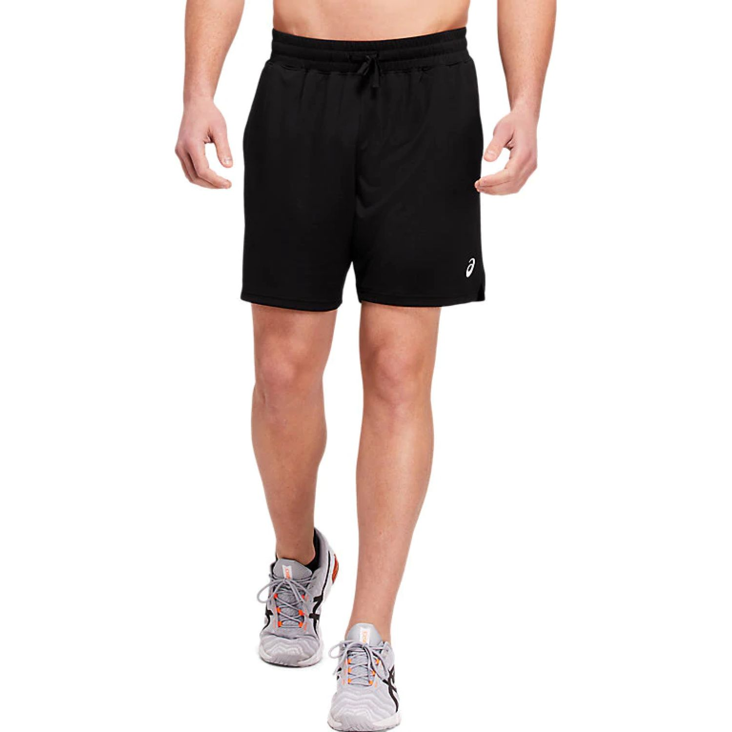 Asics M 7in Knit Train Sho Perf Black Negro Shorts deportivos