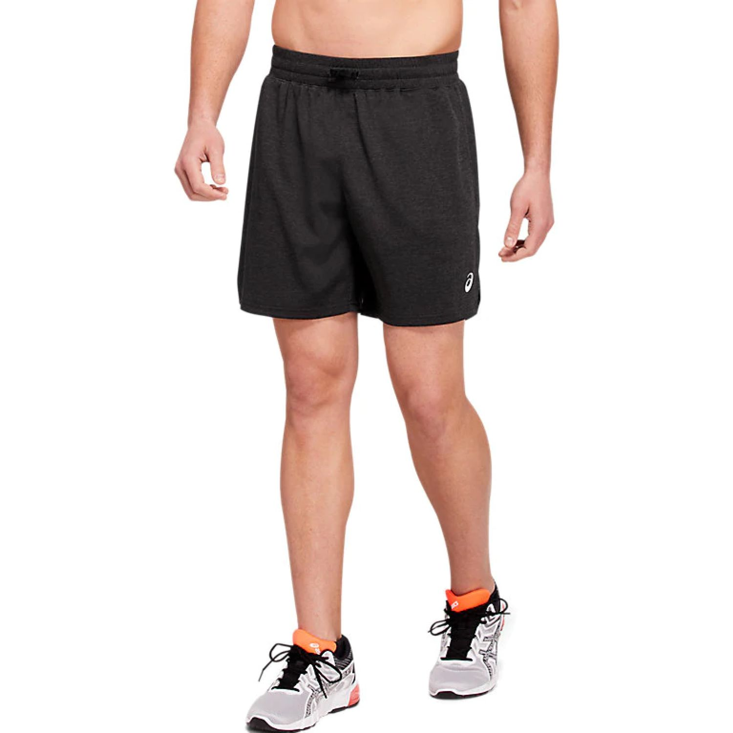 Asics M 7in Knit Train Sho Dark Grey Heathe Negro Shorts deportivos