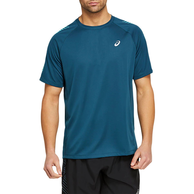 Asics M Icon Ss Top Mag Blue Techno Cyan Azulino Camisetas y polos deportivos