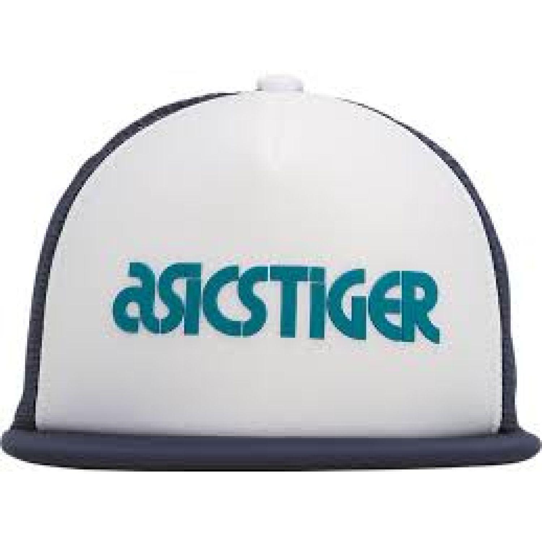 Asics Logo Cap Teal Blue Blanco Gorras de béisbol