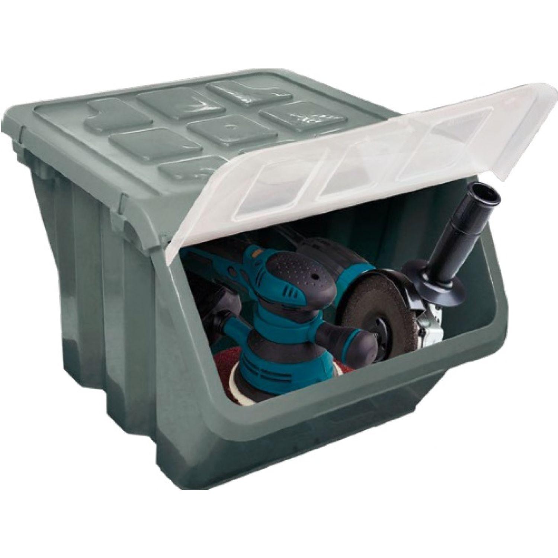 RIMAX Caja Almacenadora C/Tapa Gr Nat Gris Cajas de almacenamiento
