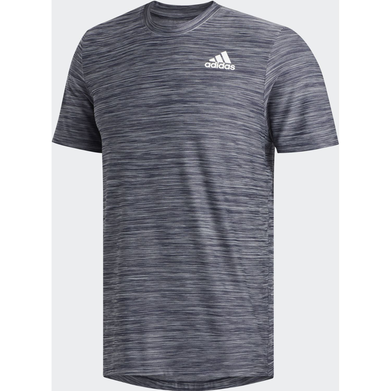 Adidas ALL SET TEE 2 Azul / gris Camisetas y Polos Deportivos