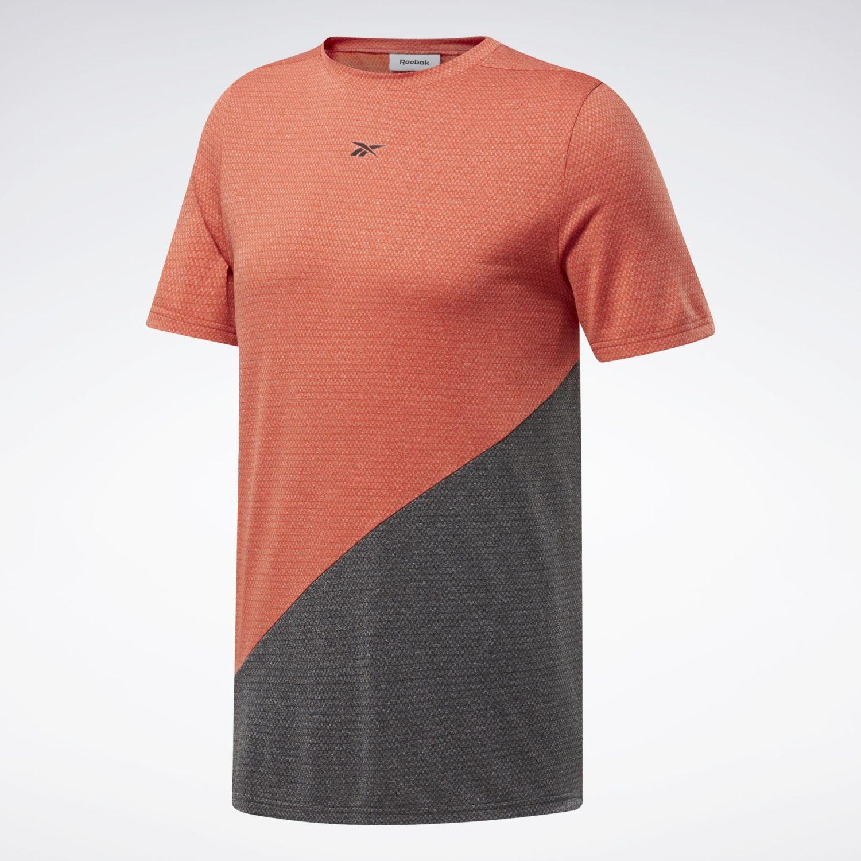 Reebok Wor Melange Ss Tee Naranja Camisetas y Polos Deportivos