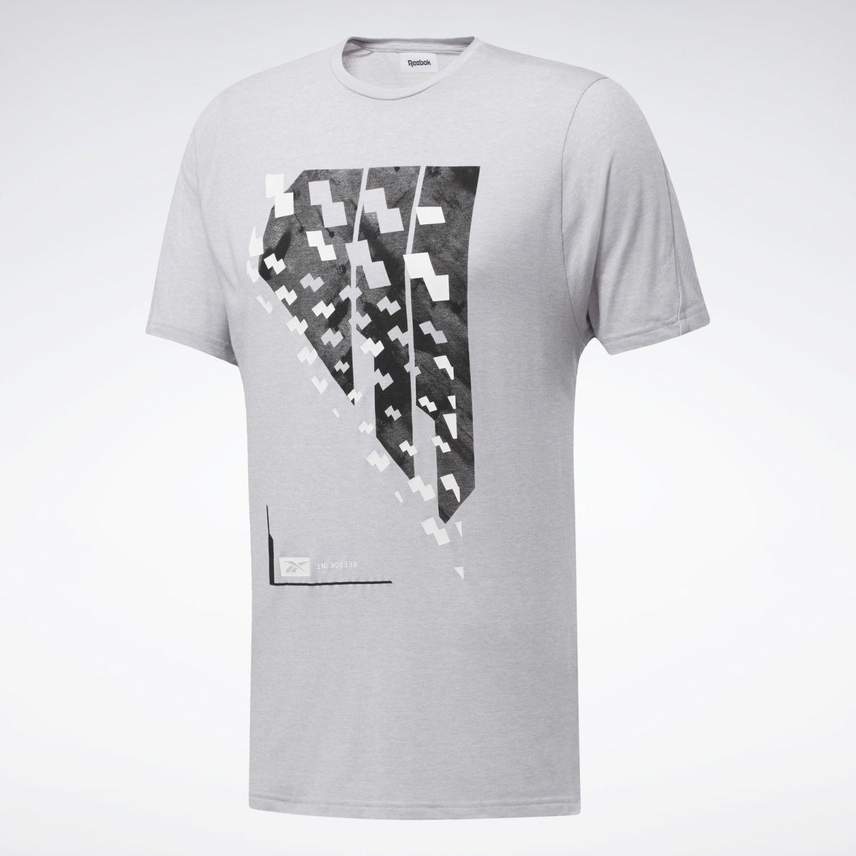 Reebok Ts Activchill+cotton Ss Gris Camisetas y polos deportivos