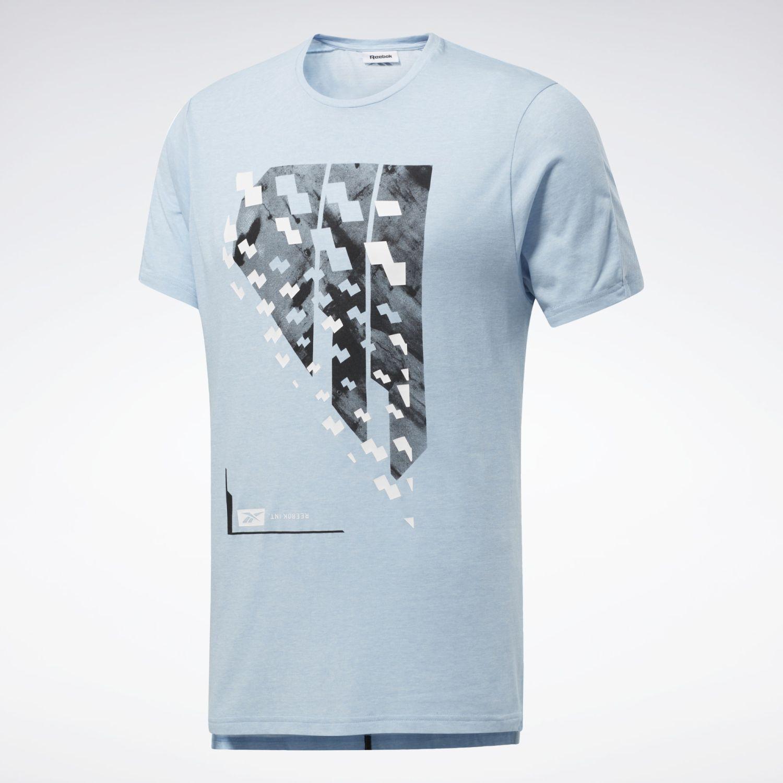 Reebok Ts Activchill+cotton Ss Celeste Camisetas y polos deportivos