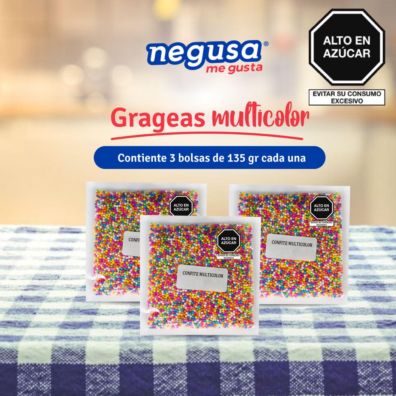 NEGUSA Gragea Multicolor (3unid X 135gr) Sin color Surtidos de dulces y chocolate