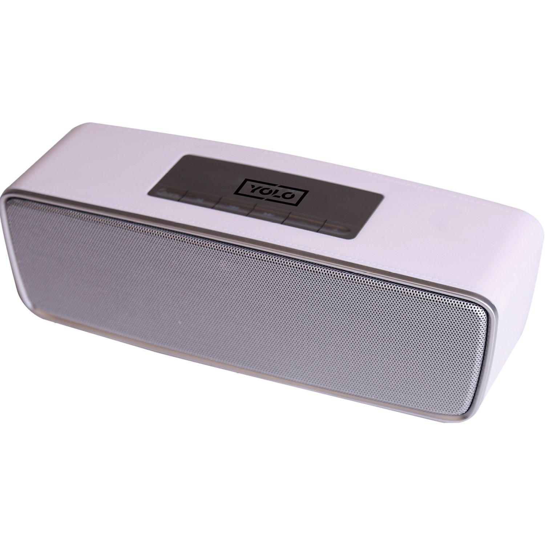 YOLO Altavoz Bluetooth C/Radio Fm Blanco Altavoces bluetooth portátiles