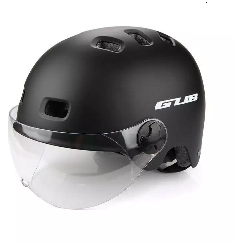 Platanitos Life Casco Para Ciclismo Con Protector S001 Negro Accesorios casco