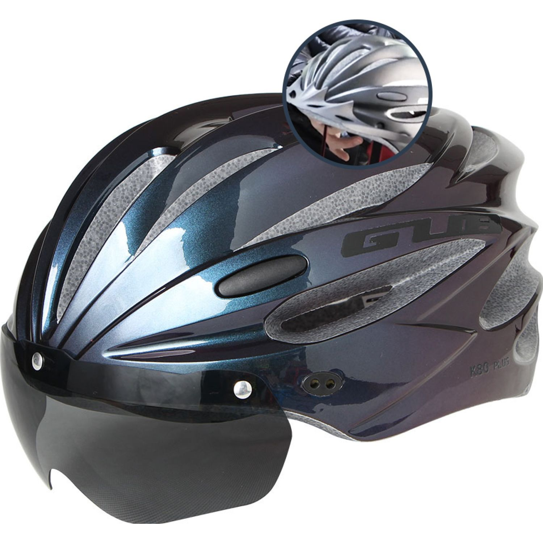 Platanitos Life Casco Para Ciclismo Con Protector S003 VERDE METALICO Accesorios casco