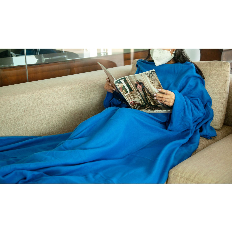 Platanitos Life Manta Con Mangas 1002 Azul Cobijas para cama