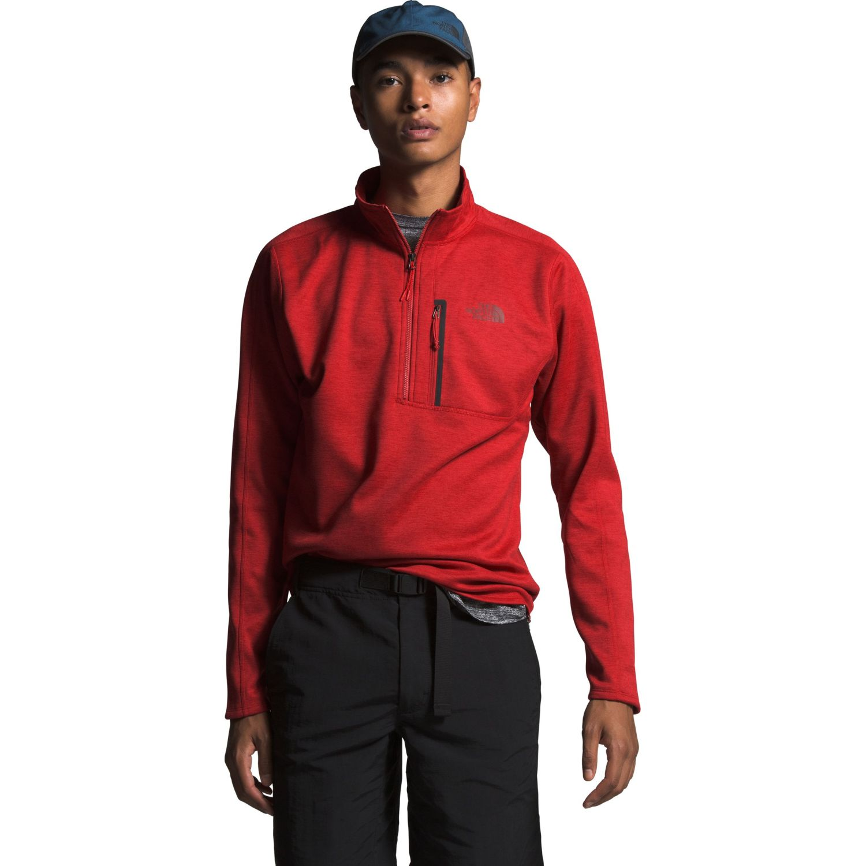The North Face M Canyonlands 1/2 Zip Rojo Jerseys